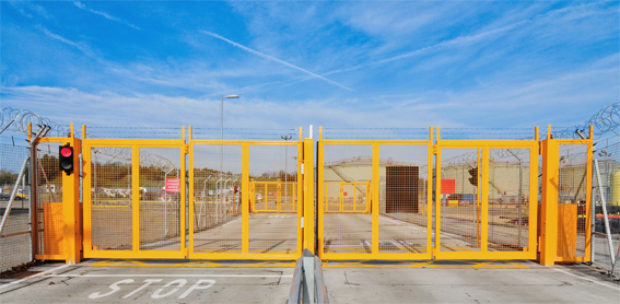 Bi-folding_Gates_at_Gatwick_Fuel_Farm